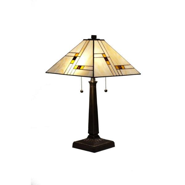 Tiffany Mission 23 in. Bronze Table Lamp