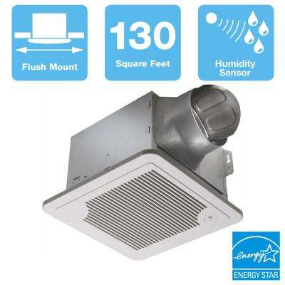 Smart Series 130 CFM Ceiling Bathroom Exhaust Fan with Adjustable Humidity Sensor and Speed Control, ENERGY STAR
