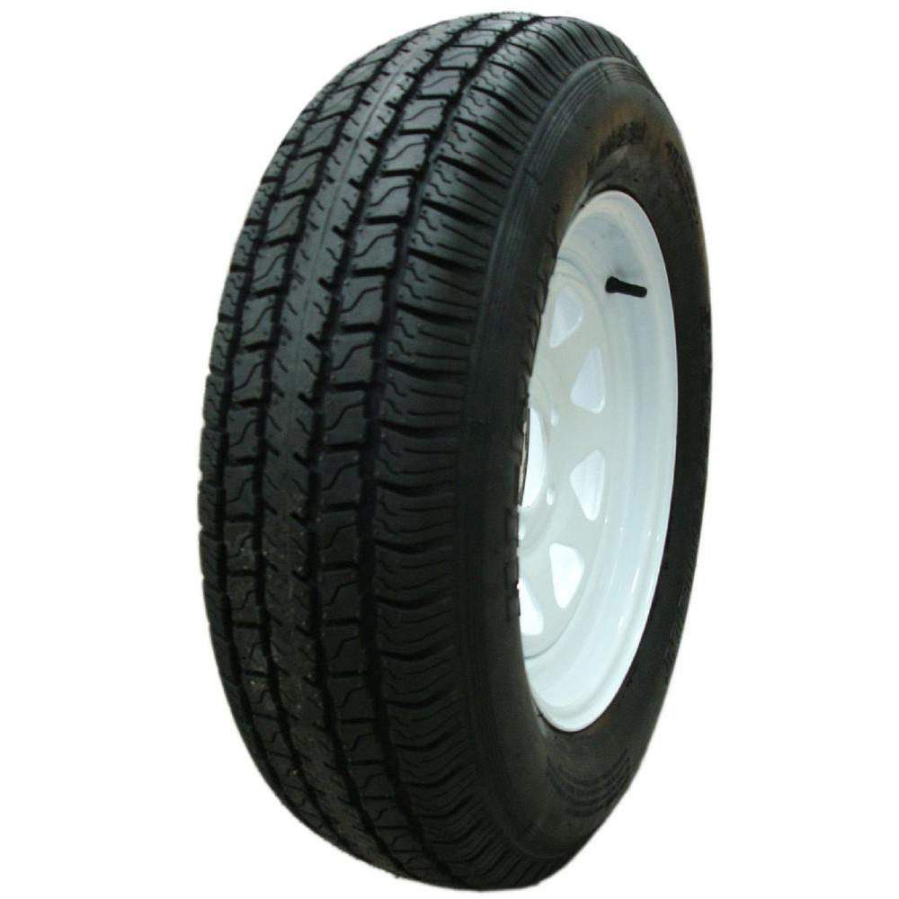 8 Spoke White 50 PSI ST205/75D14 and 14 in. x 6.0