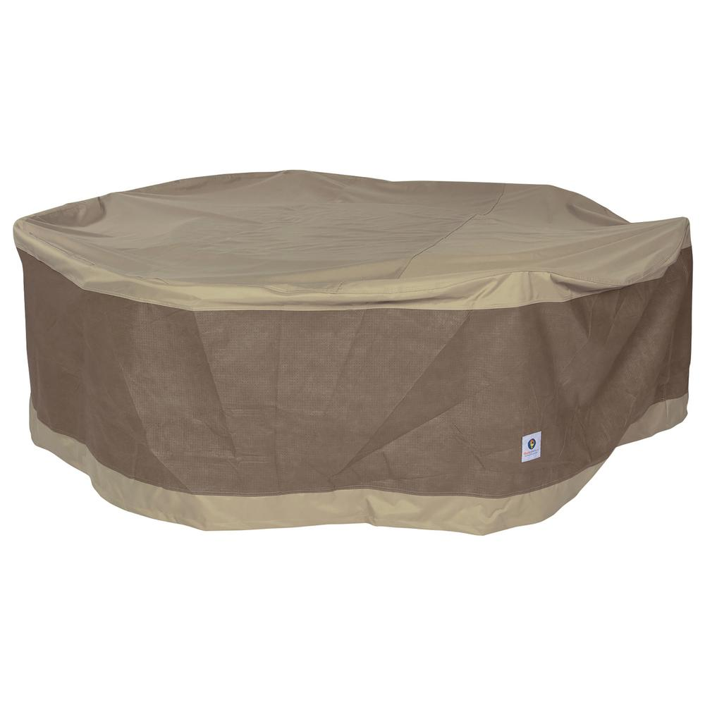 Duck Covers Elegant 90 In Round Patio Table With Chairs Cover Ltr09090 The Home Depot