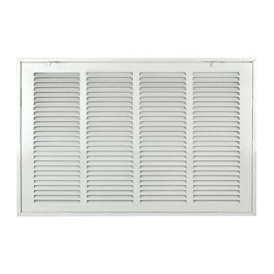 24 in. x 14 in. Steel Return Air 1 in. Filter Grille, White Grille