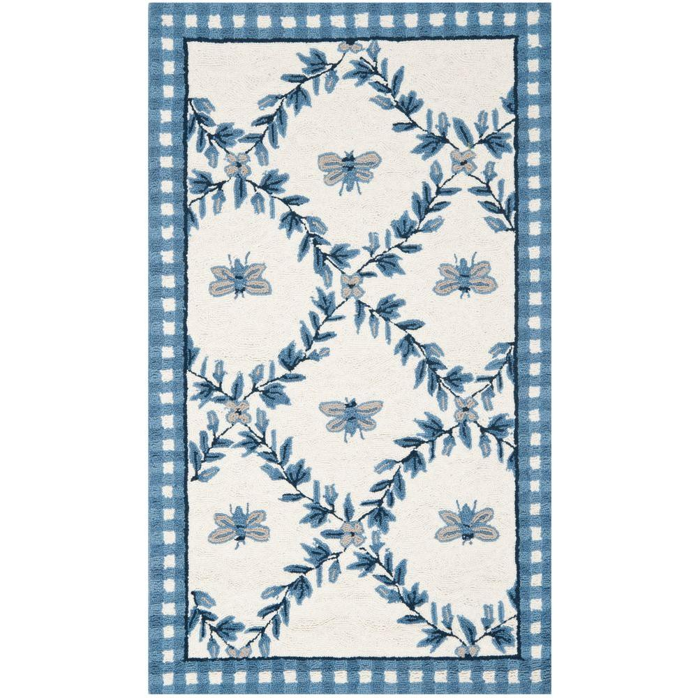 Chelsea Ivory/Blue 2 ft. 9 in. x 4 ft. 9 in.