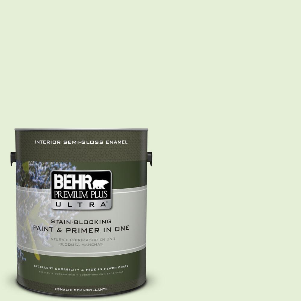 1-gal. #430C-2 Spring Morn Semi-Gloss Enamel Interior Paint