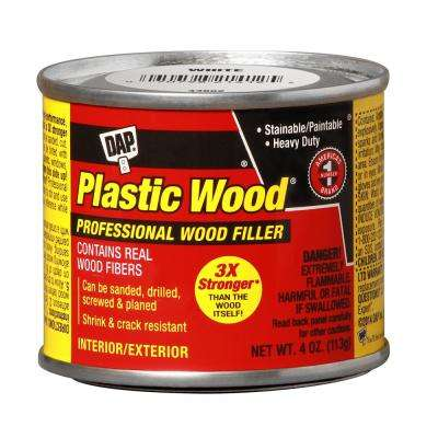 Plastic Wood 4 oz. White Solvent Woodfiller (12-Pack)