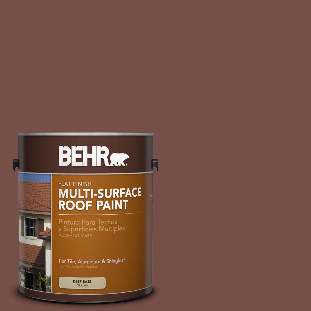 BEHR 1 gal. #RP-24 Metro Brown Flat Multi-Surface Roof Paint