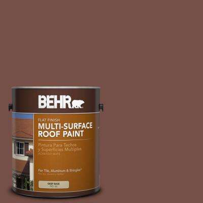 1 gal. #RP-24 Metro Brown Flat Multi-Surface Exterior Roof Paint