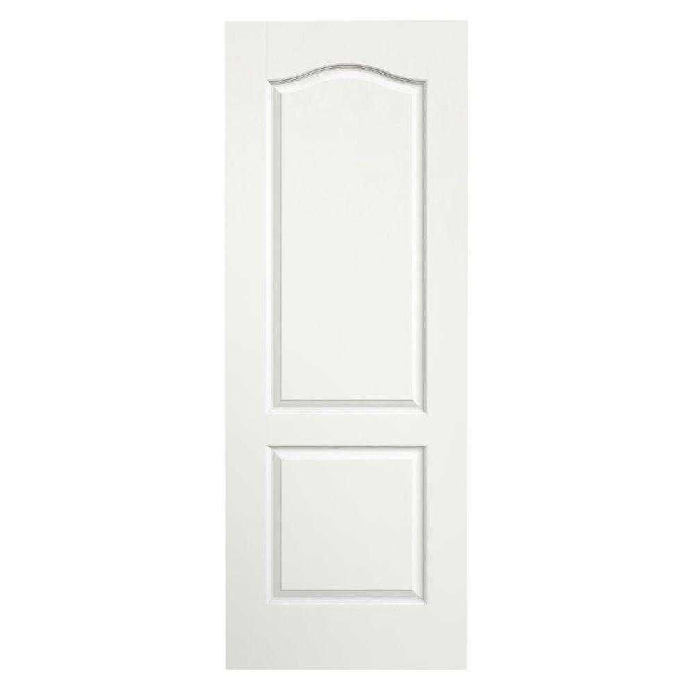 24 in. x 80 in. Princeton White Painted Smooth Solid Core