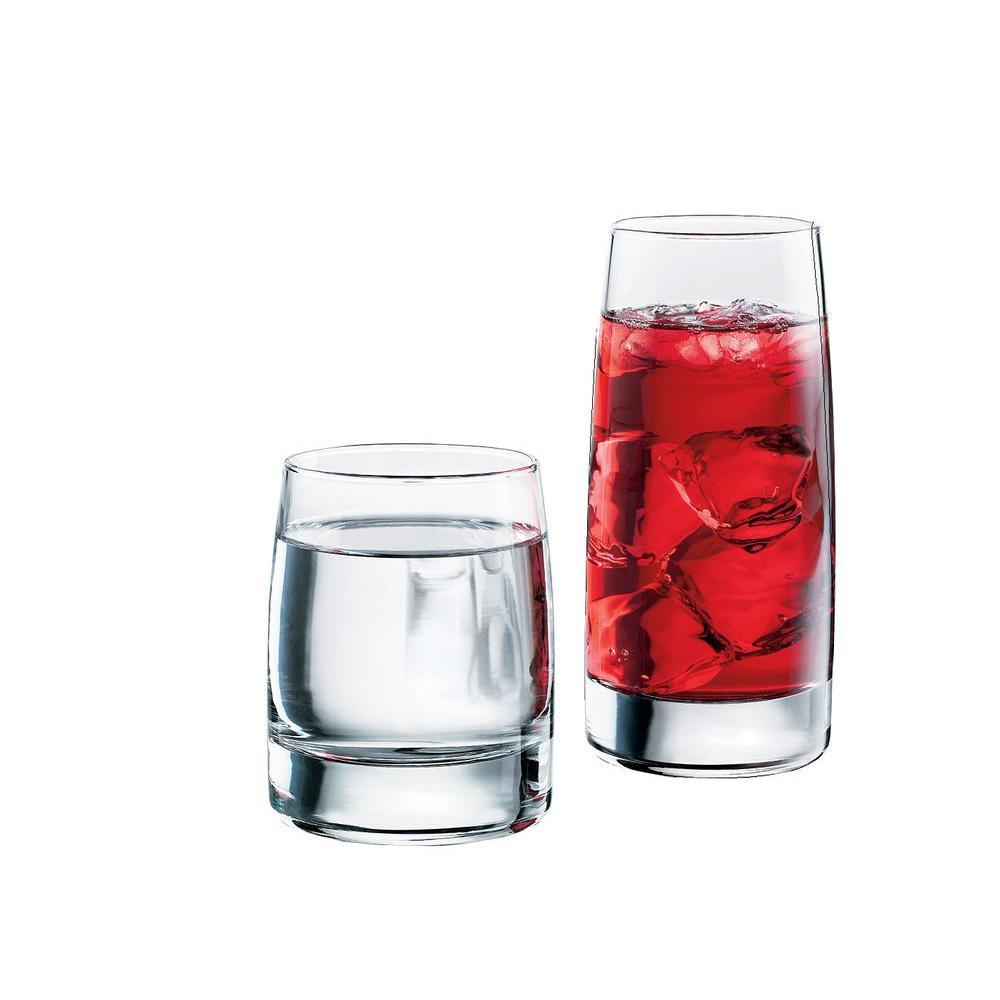 Libbey Vibe 16-Piece Beverageware Set in Clear