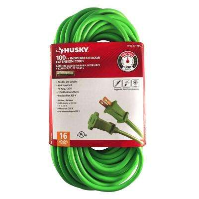 100 ft. 16/2 Indoor/Outdoor Extension Cord, Green