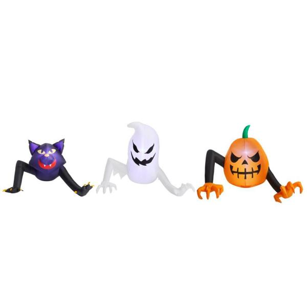 2.5 ft. Reaching Monster, Ghost, and Cat Halloween Inflatable Pack