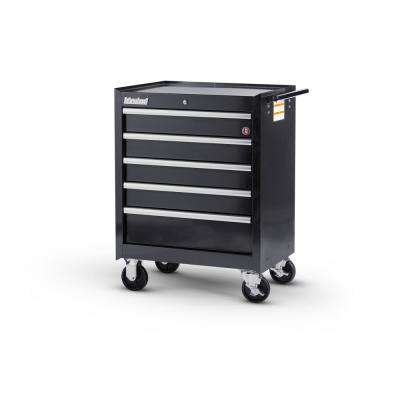 Workshop Series 27 in. 5-Drawer Roller Cabinet Tool Chest in Black