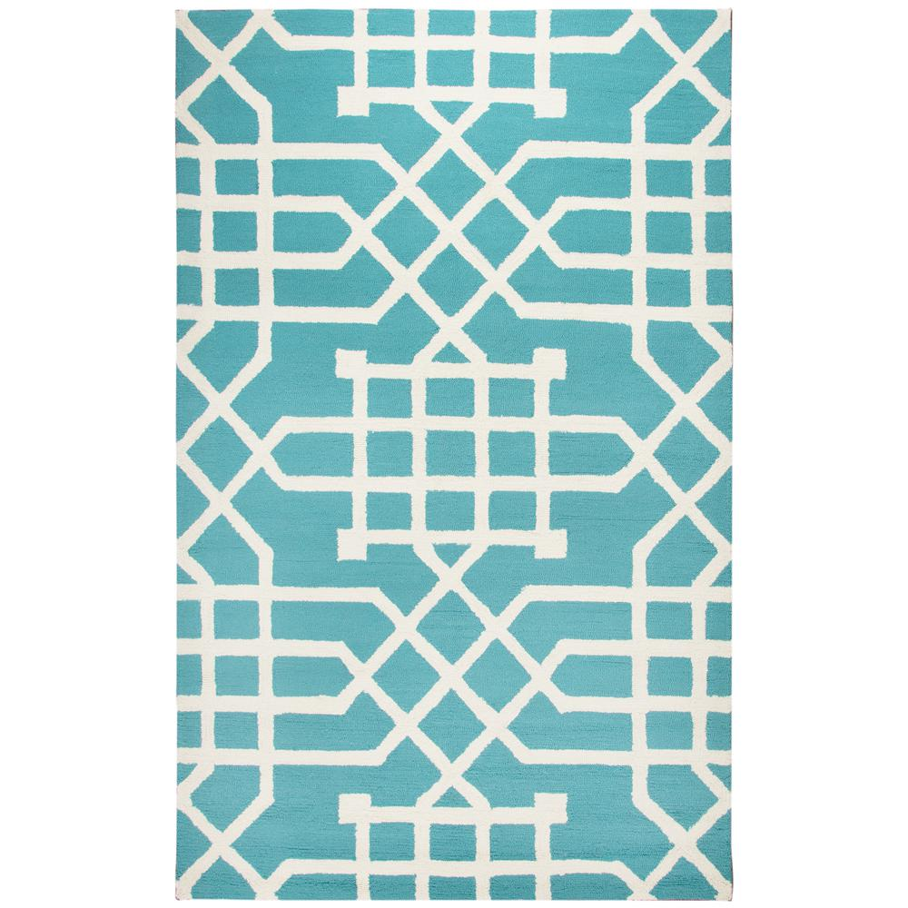 Rizzy Home Azzura Hill Teal Geometric 5 Ft. X 7 Ft. 6 In