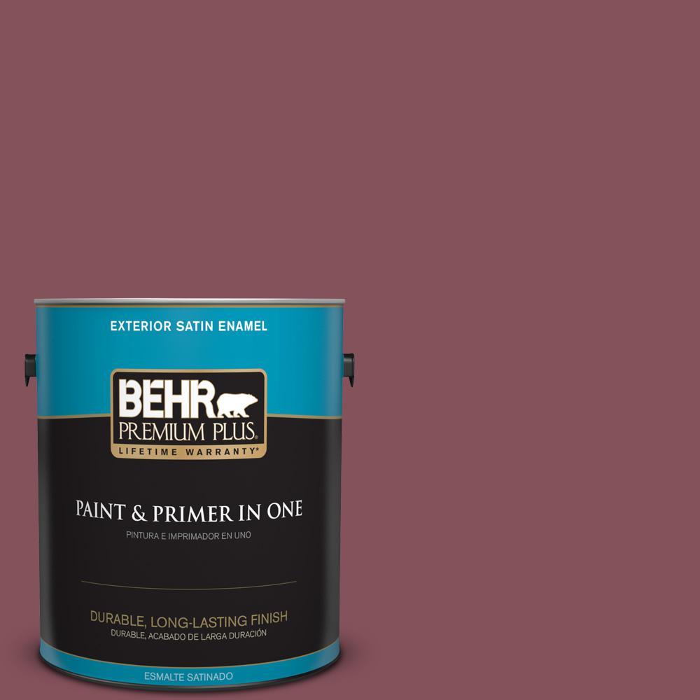 1 gal. #PPU1-15 So Merlot Satin Enamel Exterior Paint