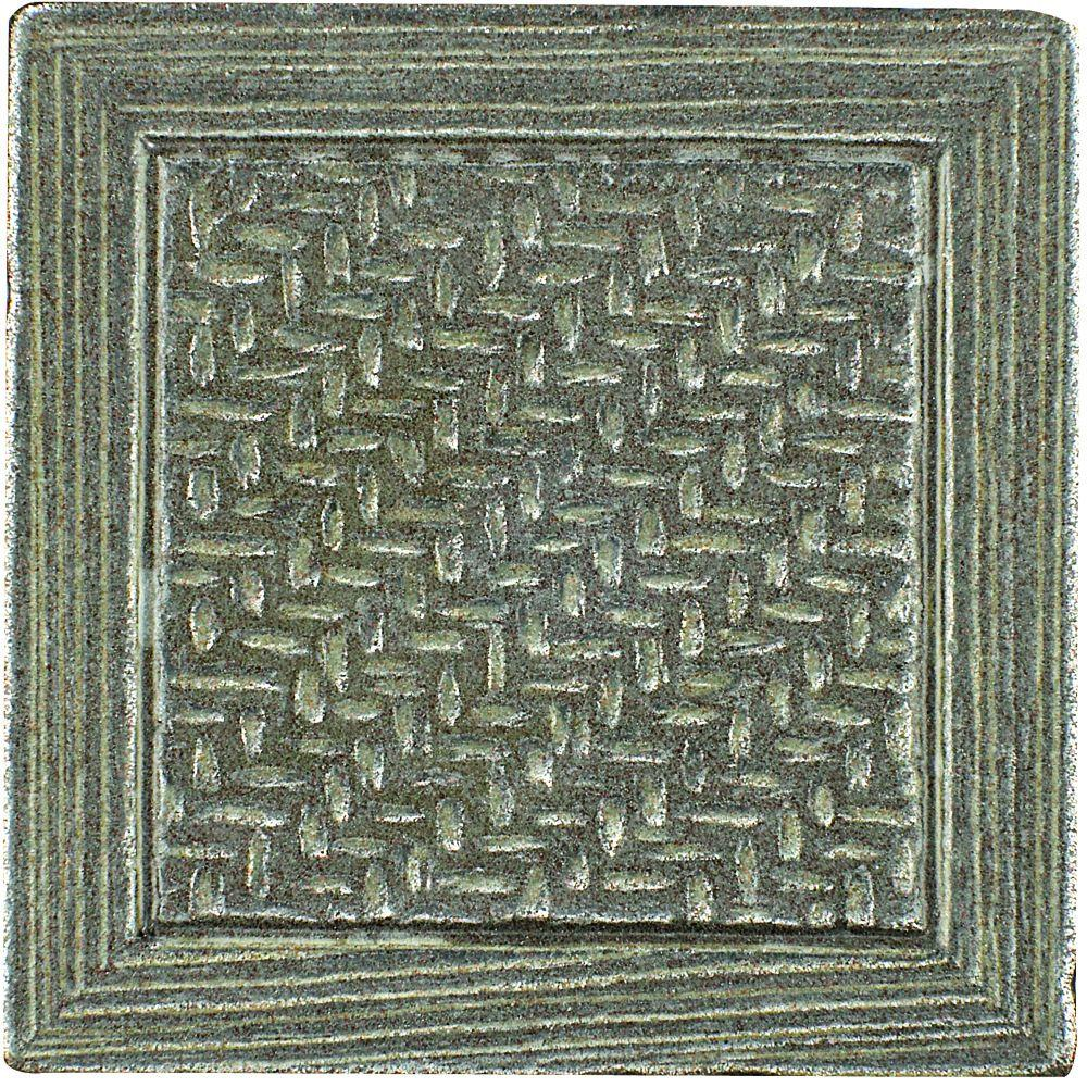 MARAZZI Montagna Nickel 2 in. x 2 in. Metal Resin Basketweave Decorative Floor/Wall Tile