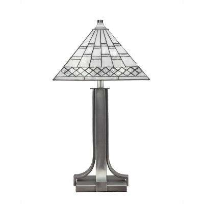 2-Light 24.75 in. Graphite Table Lamp