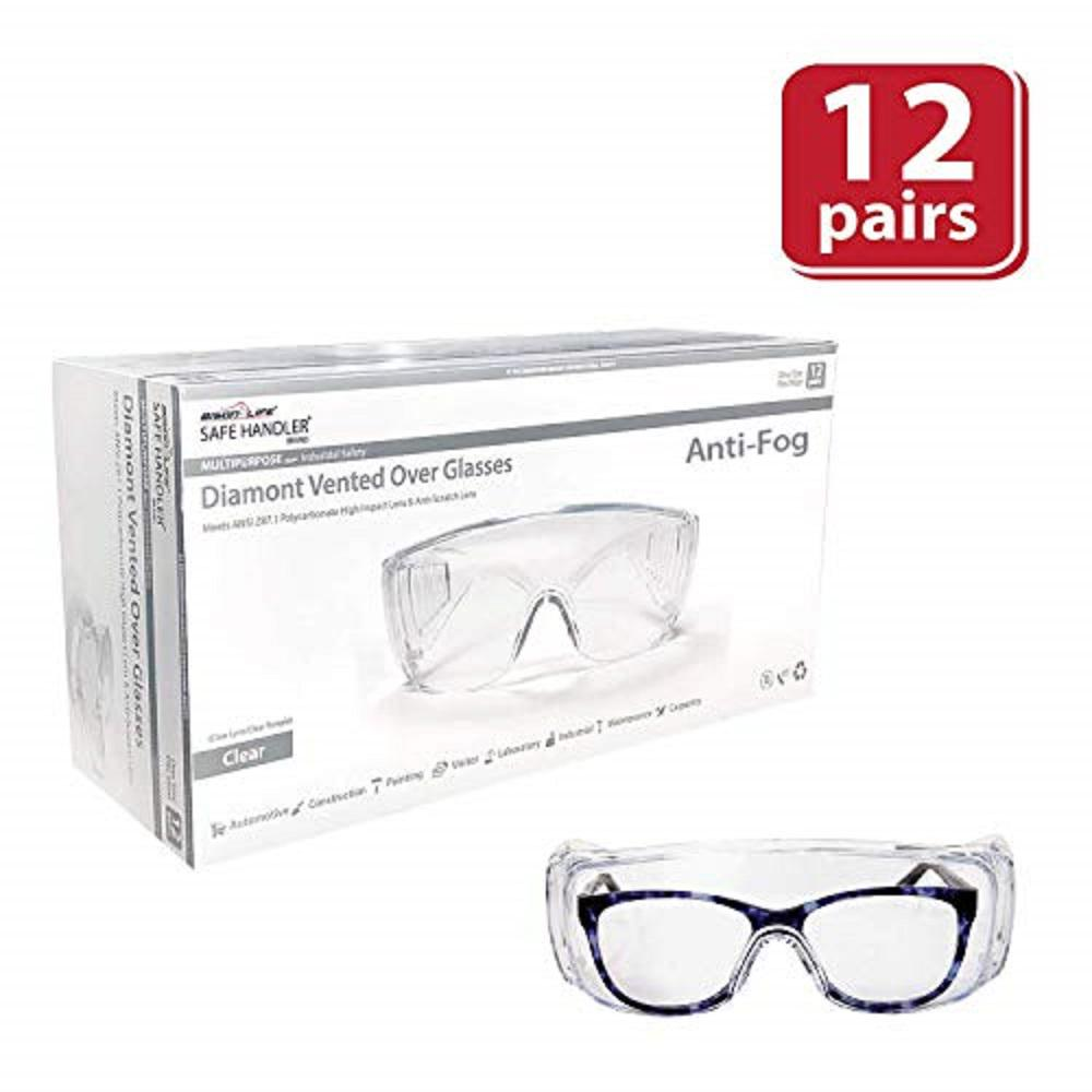 d2273869e10 Bison Life Diamont Vented Over Glasses 12 PAIRS   Anti-Scratch