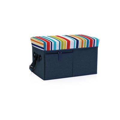 18 Qt. Navy Ottoman Cooler and Seat