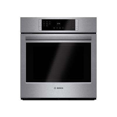 800 Series 27 in Single Electric Wall Oven with European Convection Self Cleaning in Stainless Steel with Touch Controls