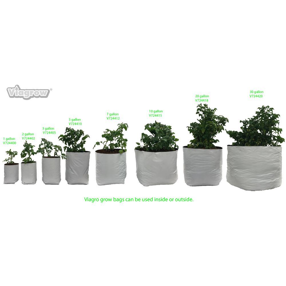 Viagrow 5 Gal Plastic Nursery Grow Bags 400 Pack