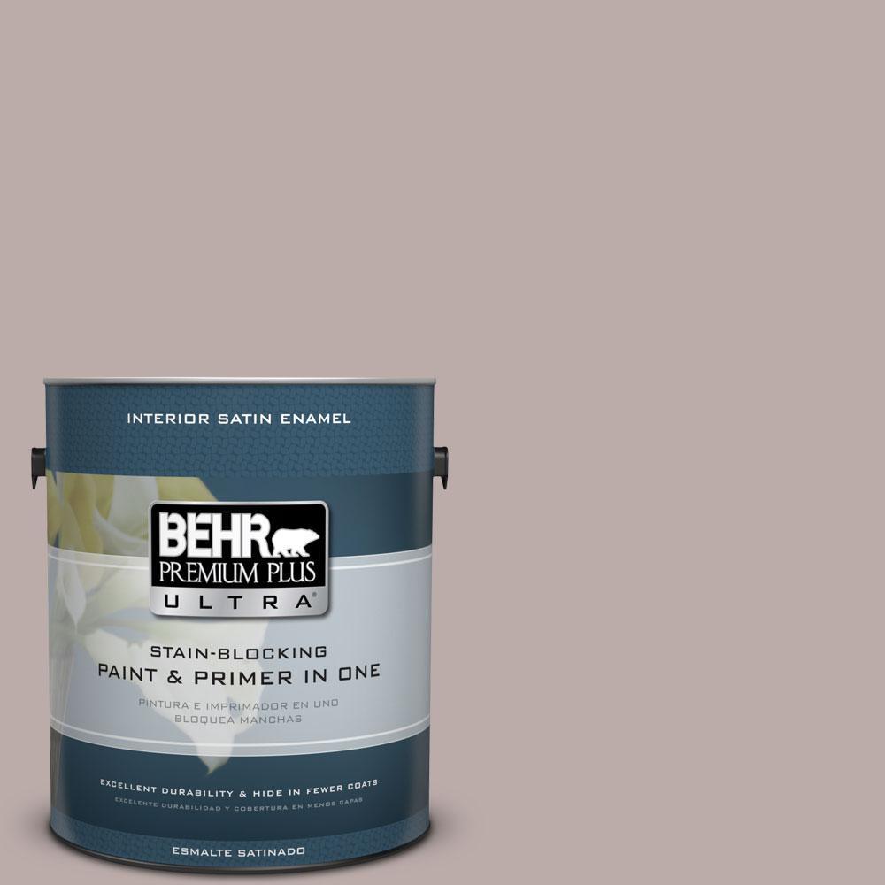 1-gal. #730B-4 Winter Cocoa Satin Enamel Interior Paint