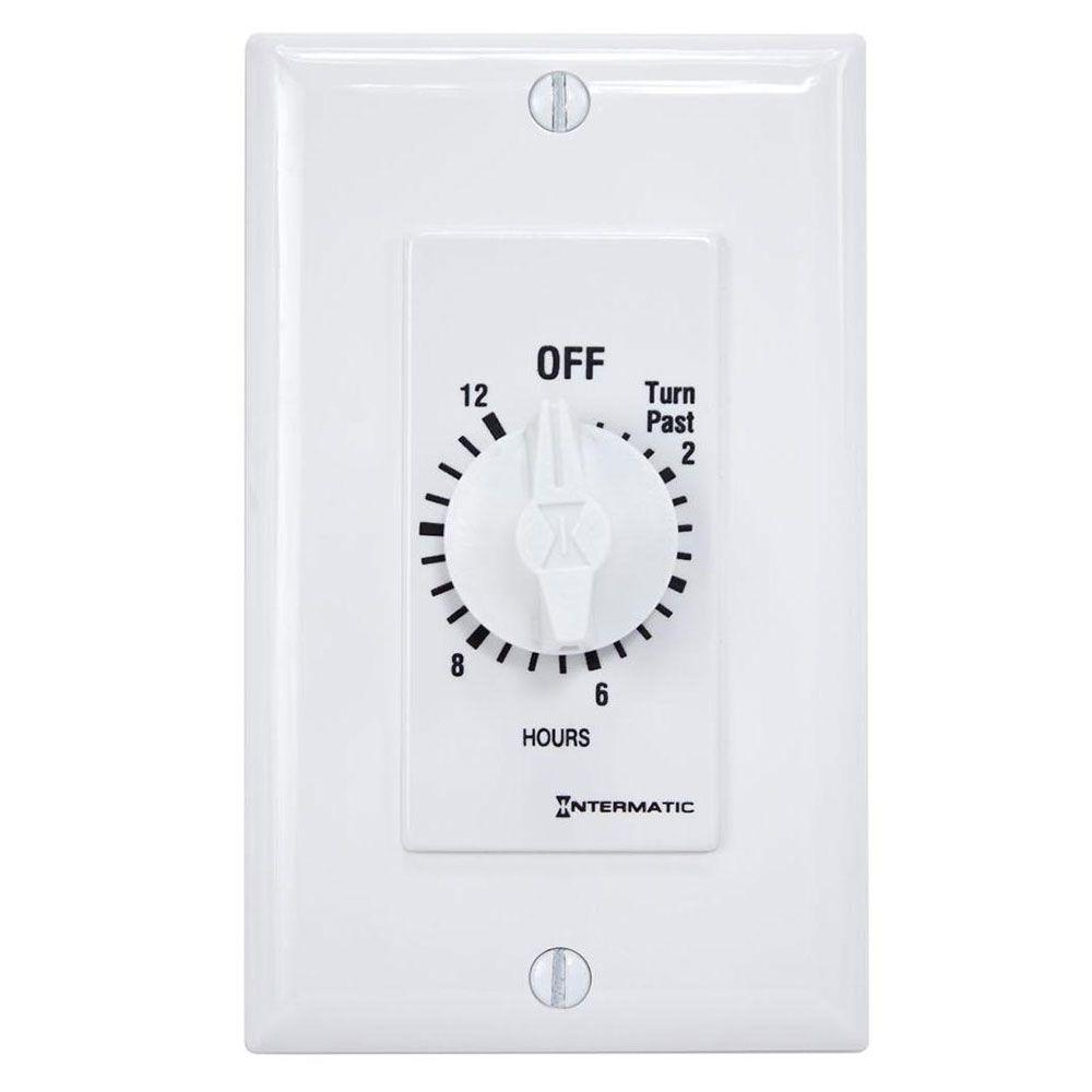 Intermatic 20 Amp 12-Hour Spring Wound In-Wall Timer, White-SW12HWK ...
