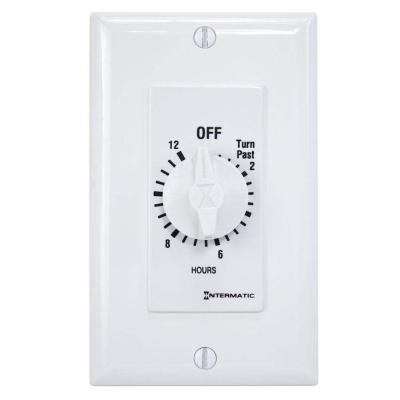 20 Amp 12-Hour Spring Wound In-Wall Timer, White