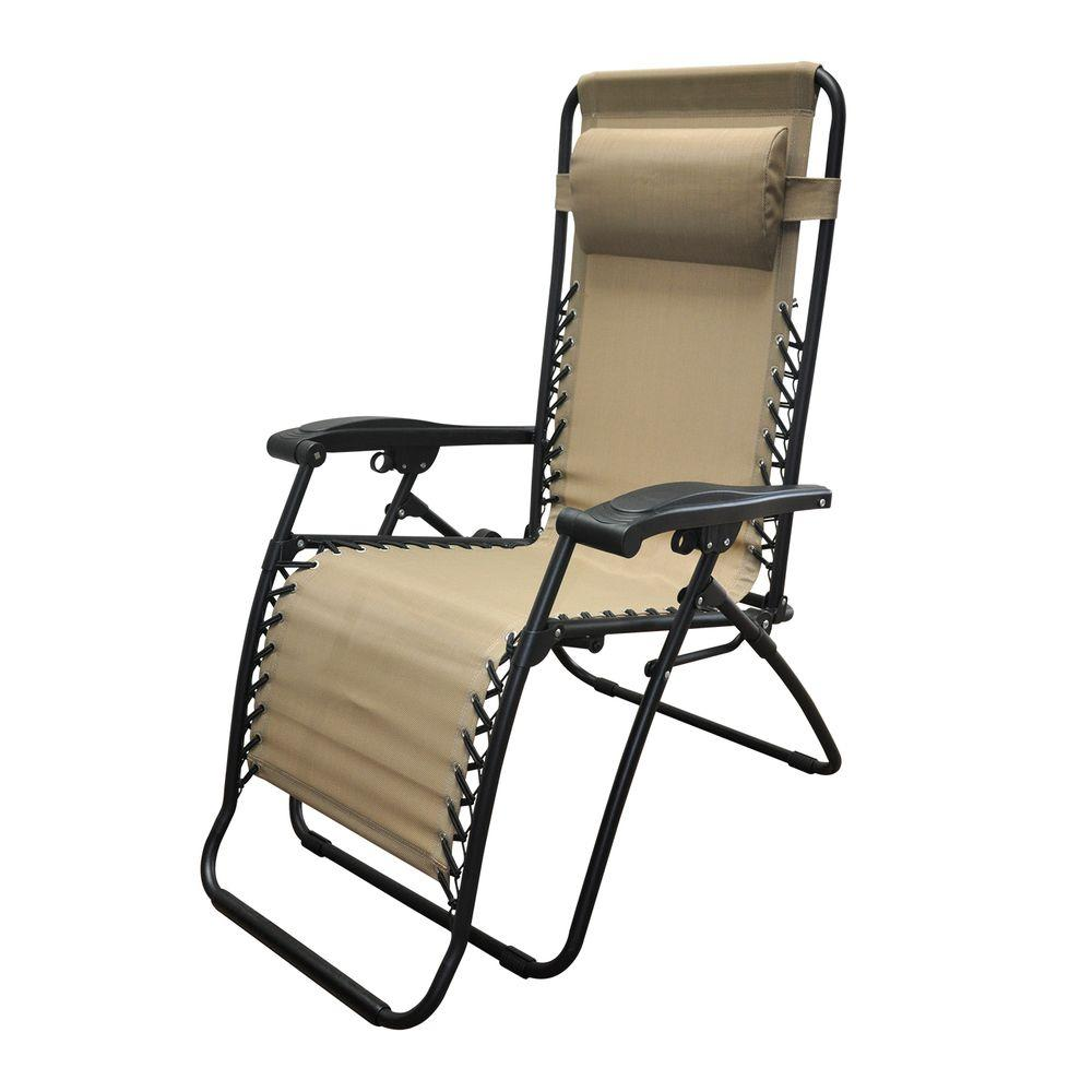 Patio gravity chair - Caravan Sports Infinity Beige Zero Gravity Patio Chair 80009000150 The Home Depot