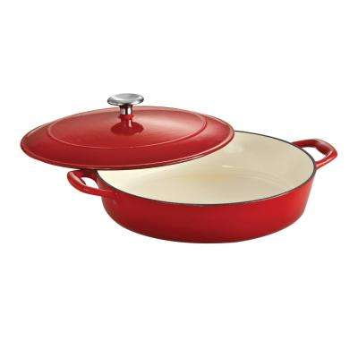 Gourmet 4 Qt. Cast Iron Braising Pan