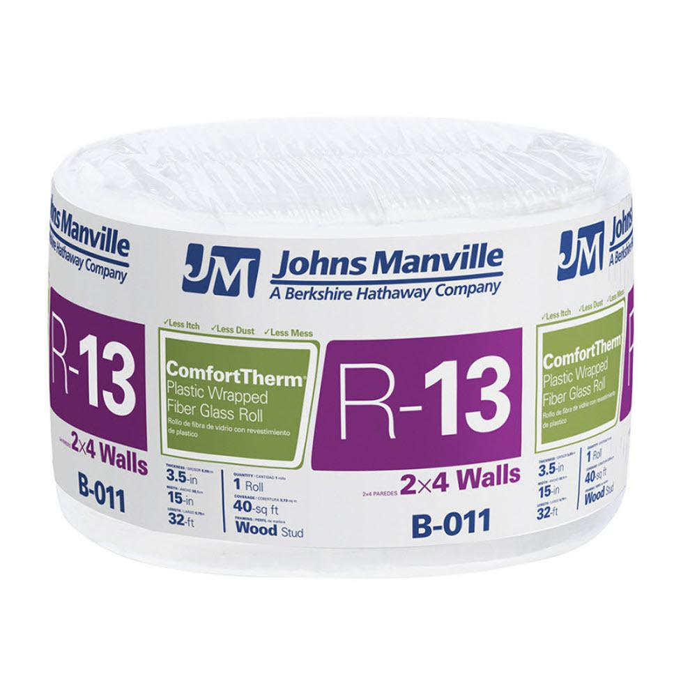 R-13 ComfortTherm Poly Faced Fiberglass Insulation Roll 15 in. x 32