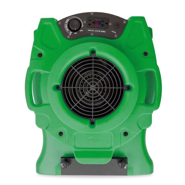 1/4 HP Low Profile Blue Air Mover Blower Fan for Water Damage Restoration Carpet Dryer Floor in Green