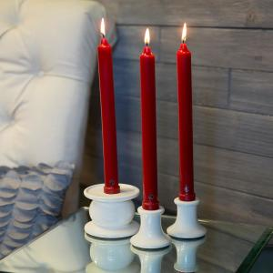 Click here to buy Colonial Candle 12 inch Red Classic Taper Candles (Set of 12) by Colonial Candle.