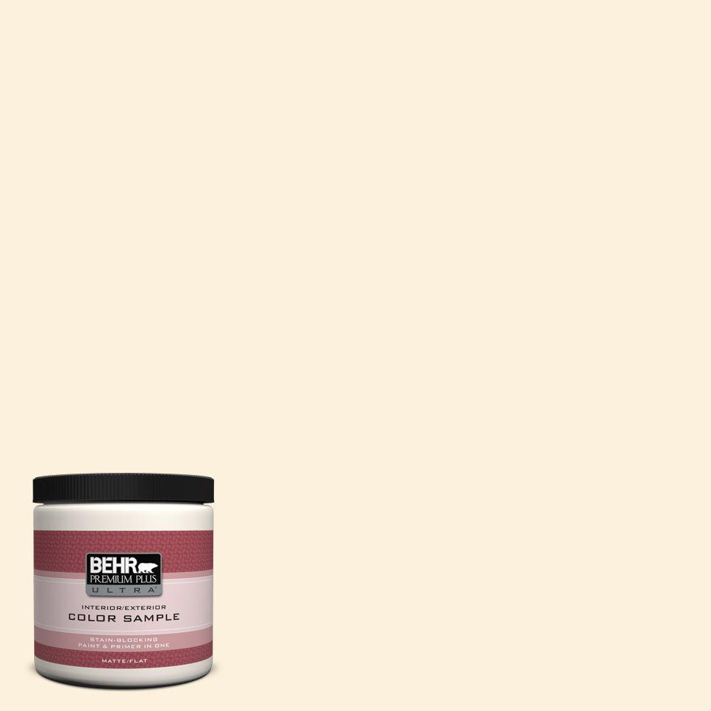 BEHR Premium Plus Ultra 8 oz. #320A-1 Eggnog Interior/Exterior Paint Sample
