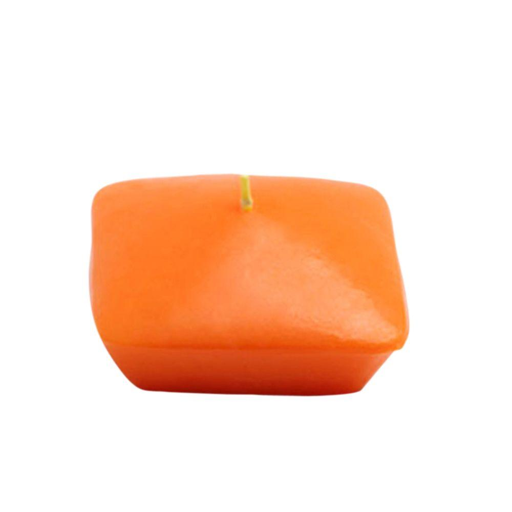 3 in. Orange Square Floating Candles (6-Box)