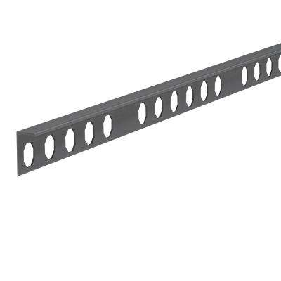 Novosuelo Matt Graphite 3/8 in. x 98-1/2 in. Aluminum Tile Edging Trim