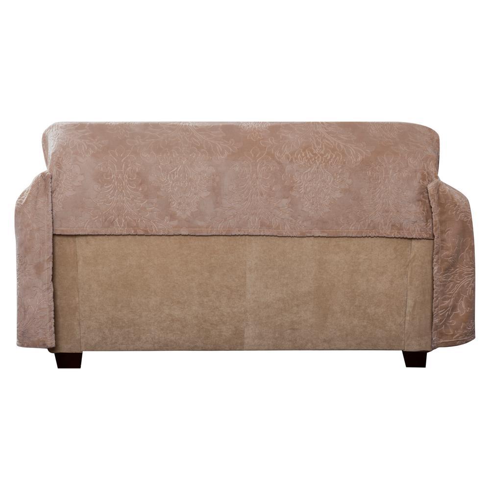 Magnificent Innovative Textile Solutions Plush Damask Slipcover Blush Dailytribune Chair Design For Home Dailytribuneorg