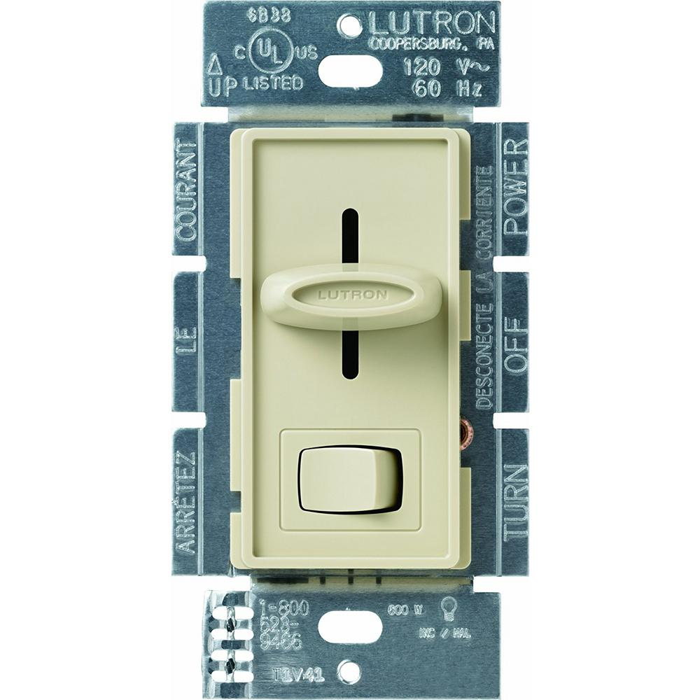 Skylark 600-Watt Single-Pole Preset Dimmer, Ivory