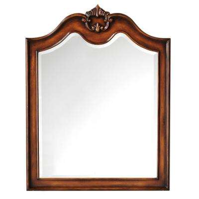 Marias 36 in. H x 28 in. W Mirror in Antique Walnut Frame-DISCONTINUED