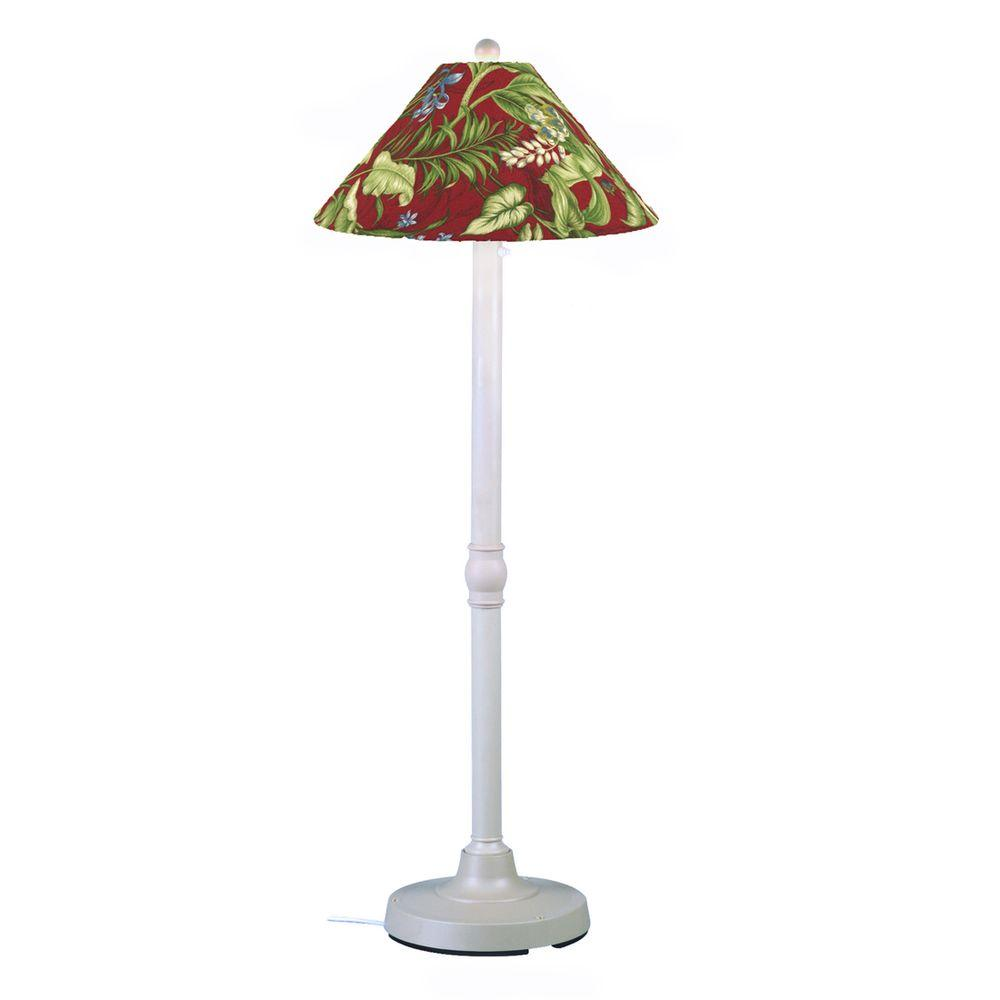 Patio Living Concepts San Juan 60 in. White Outdoor Floor Lamp with Lacquer Shade