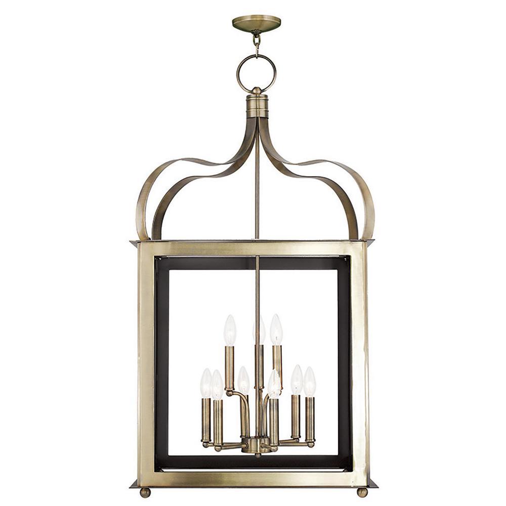 Garfield 9-Light Antique Brass Pendant