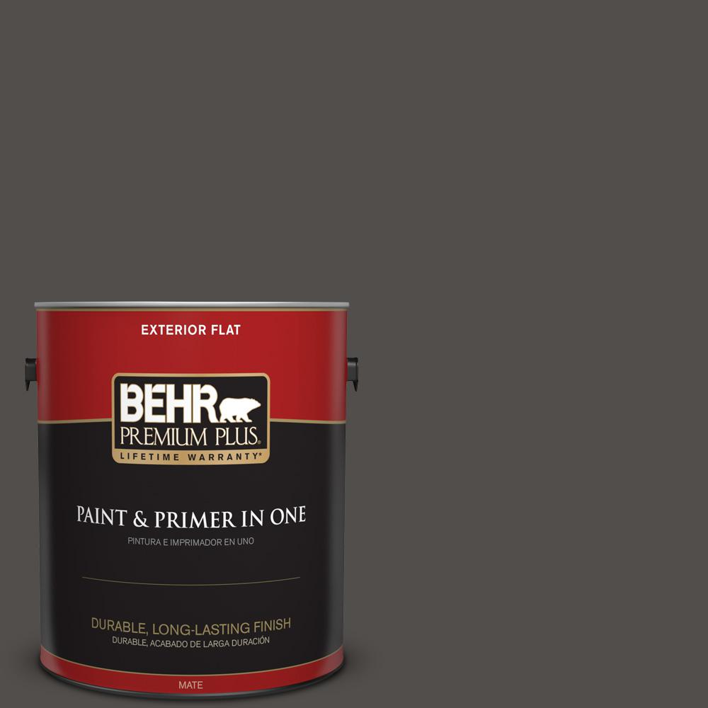1 gal. #PPU24-02 Berry Brown Flat Exterior Paint