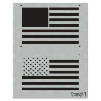 American Flag 2 Layer Stencil