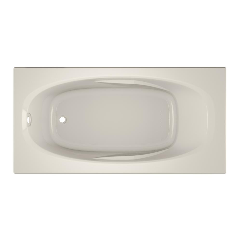Jacuzzi Amiga 72 In X 36 In Acrylic Rectangular Drop In Whirlpool Bathtub In Oyster Ami7236buxxxxy The Home Depot