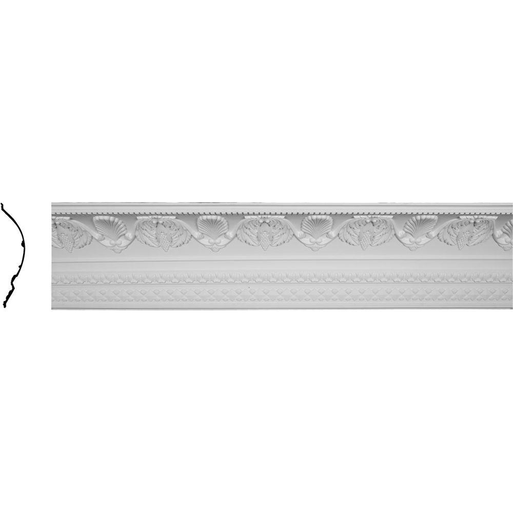 Ekena Millwork 14-1/8 in. x 16-3/8 in. x 96-1/8 in. Polyurethane Cove Harvest Crown Moulding
