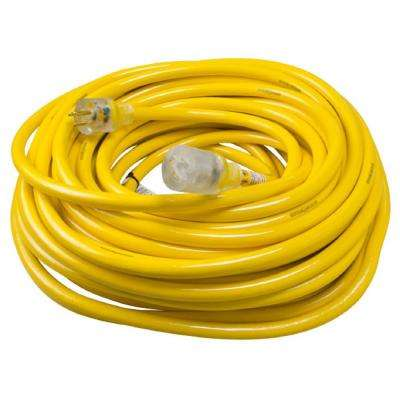 100 ft. 10/3 SJTW Outdoor Heavy-Duty Extension Cord with Power Light Plug