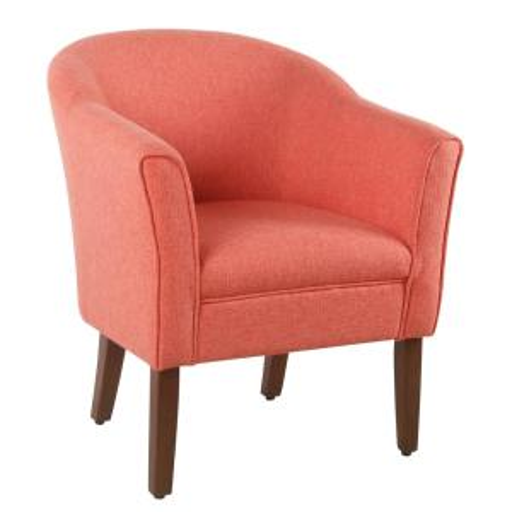 Outstanding Homepop Textured Coral Orange Woven Modern Barrel Accent Short Links Chair Design For Home Short Linksinfo