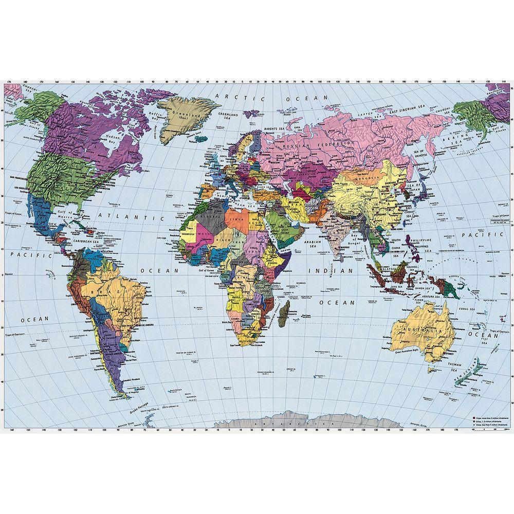 World Map Wall Mural Part 59