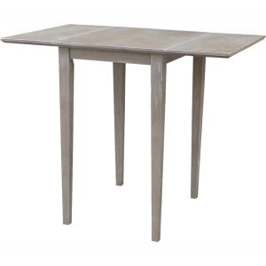 Astonishing International Concepts Weathered Taupe Gray Small Drop Leaf Ibusinesslaw Wood Chair Design Ideas Ibusinesslaworg