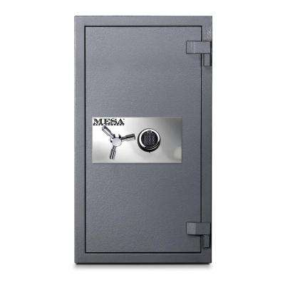5.0 cu. ft. All Steel High Security Burglary Fire Safe with Electronic Lock, Silver