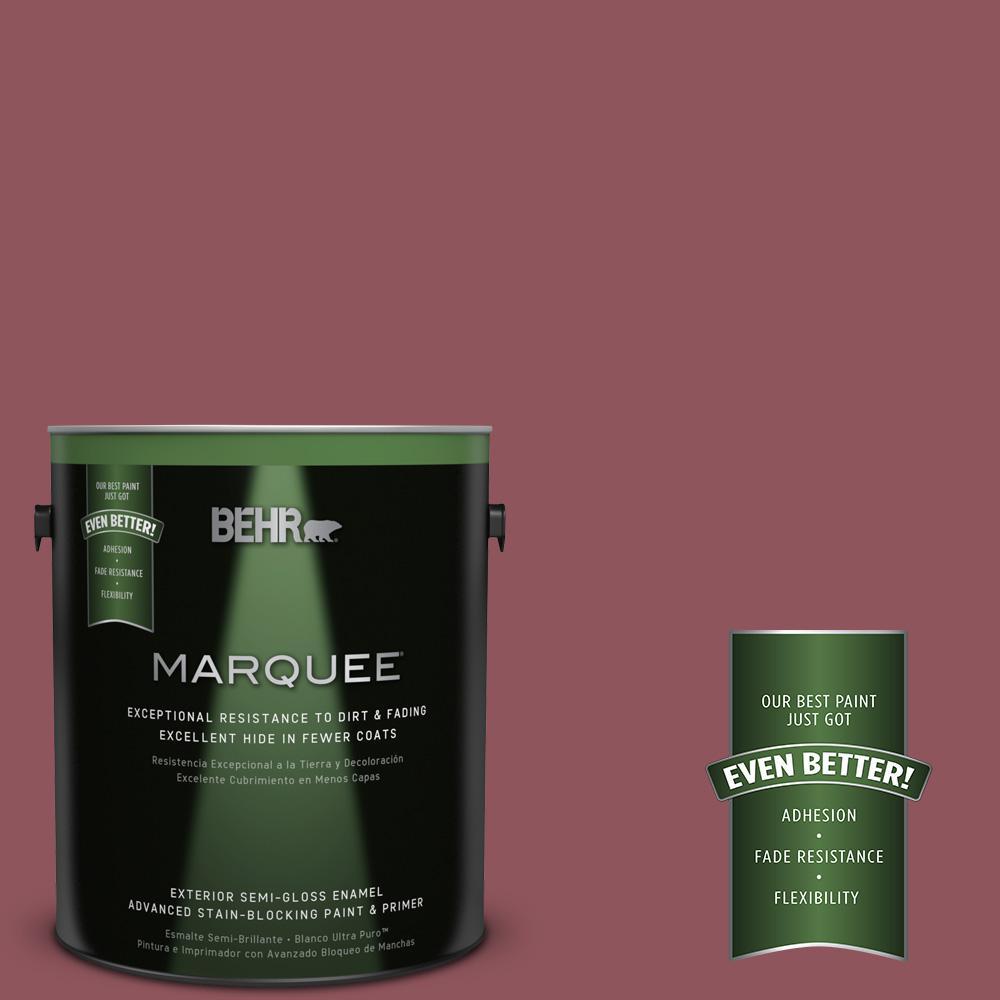 1-gal. #PMD-33 Fragrant Cherry Semi-Gloss Enamel Exterior Paint