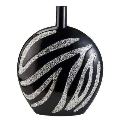 18 in. H Zebra Print Decorative Vase